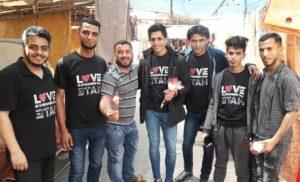 Mitglieder des Gaza Youth Committe mit Gründer Rami Aman