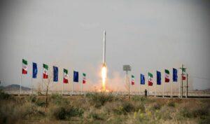Der Iran brachte am 22. April mit einer Ghased-Rakete einen Satellit ins All