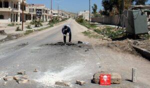 Sicherung von Proben nach dem Giftgasangriff auf Khan Sheikhun