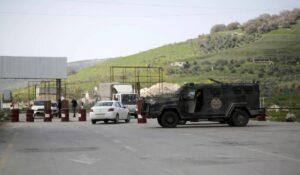 Checkpoint der Sicherheitskräfte der Palästinensischen Autonomiebehörde