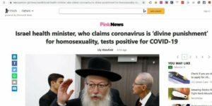 Englische Onlinezeitung unterstellte Litzman, Corona als Strafe für Homosexualität bezeichnet zu haben