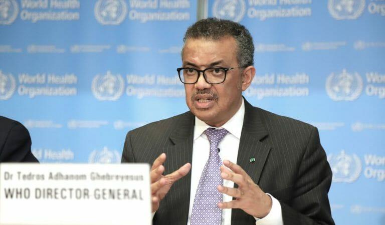 Der Generaldirektor der Weltgesundheitsorganisation WHO Tedros Adhanom Ghebreyesus