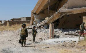 Große Teile von Shingal liegen immer noch in Trümmern
