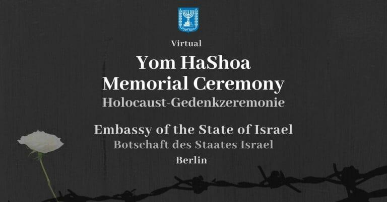 Antisemiten störten die Holocaust-Gedenkzeremonie der israelischen Botschaft in Berlin