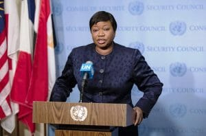 Fatou Bensouda, die Chefanklägerin des Internationalen Strafgerichtshofs. (imago images/Pacific Press Agency)