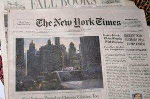 Immer für Seitenhiebe gut, wenn es um Israel geht: die New York Times. (imago images/Dean Pictures)