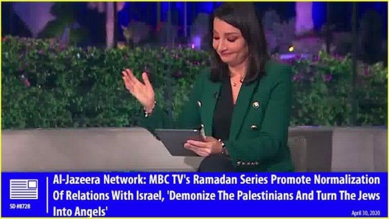 Die Journalistin Fatima Triki kritisierte auf Al-Jazeera, dass saudische Fenrsehserien die Juden zu Engeln erklären würden
