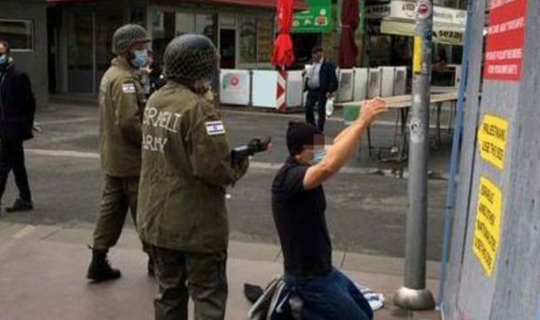 Antisemitisches Straßentheater der Israelboykott-Bewegung BDS
