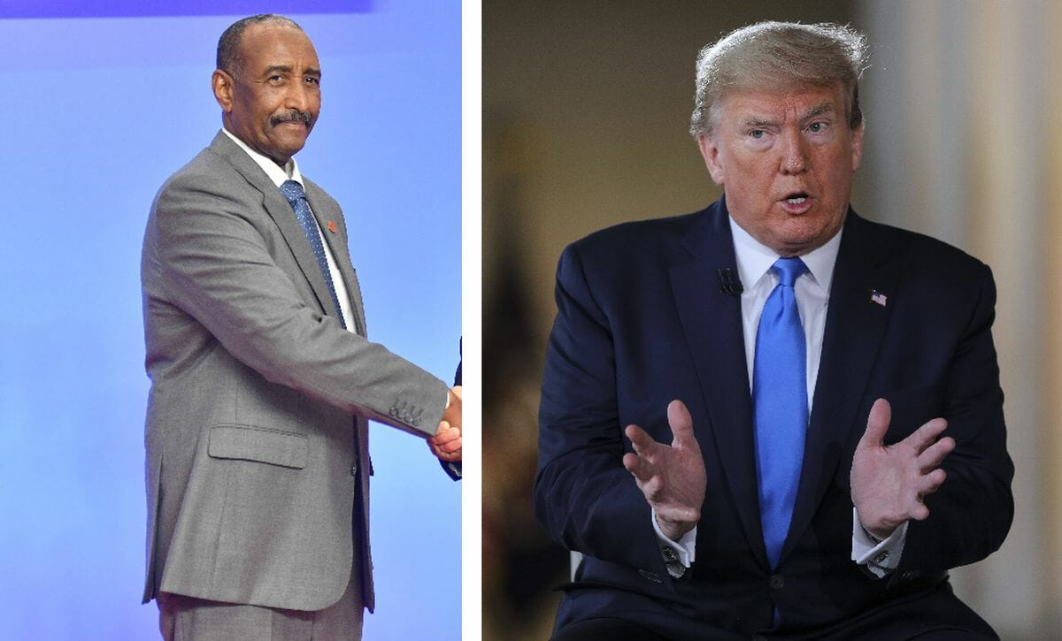 Vorsitzender des Souveränen Rates im Sudan Abdel Fattah Burhan, US-Präsident Donald Trump
