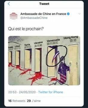 Chinesische Botschaft postet antisemitisches Bild auf Twitter