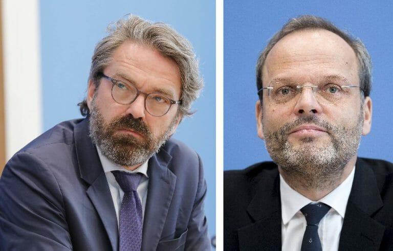 Chefkorrespondent des Deutschlandfunk Stephan Detjen und Antisemitismusbeauftragter der Bundesregierung Felix Klein