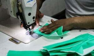 In Gazas Textilfabriken werden auch Schutzmasken für Israel hergestellt
