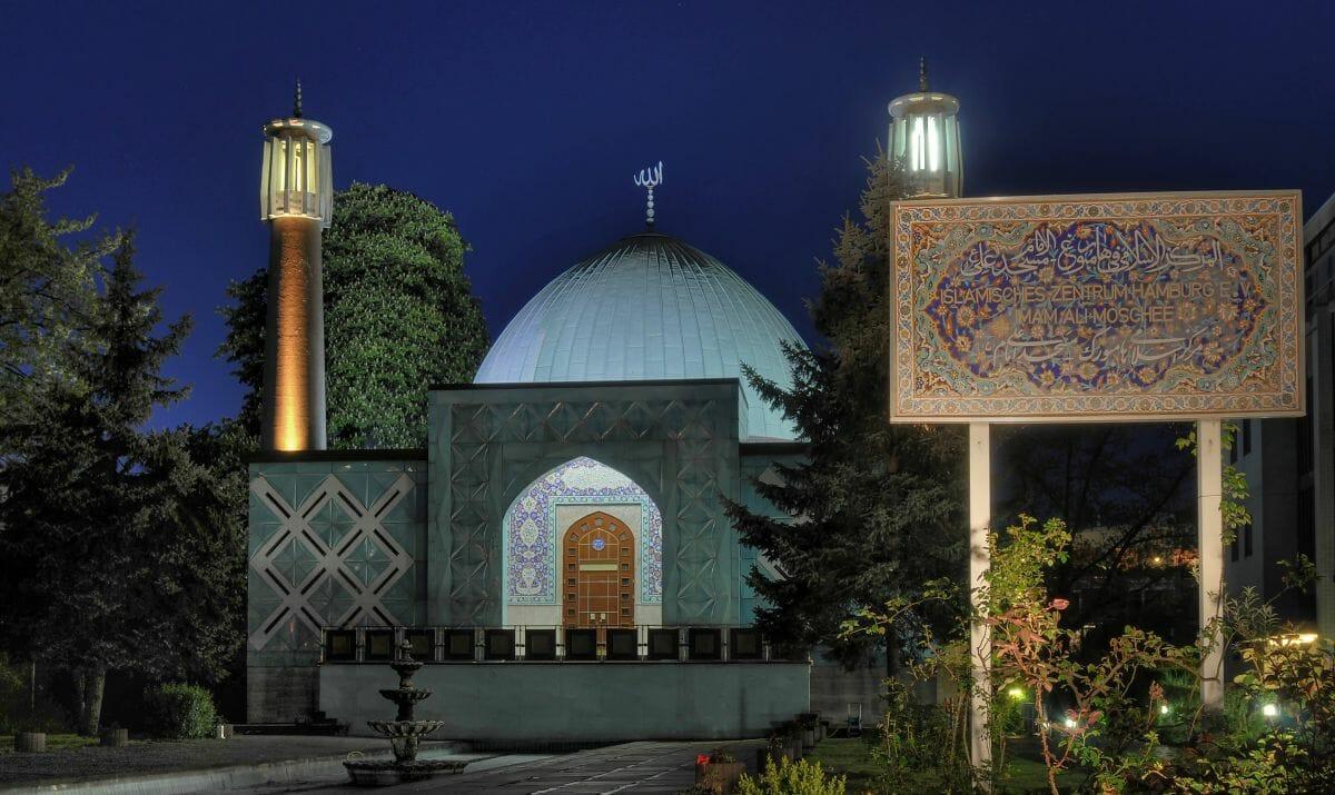 Die Blaue Moschee des Islamischen Zentrums Hamburg