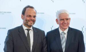 Antisemitismusbeauftragter der deutschen Bundesregierung Felix Klein und Präsident des Zentralrats der Juden in Deutschland Josef Schuster