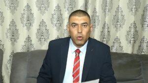 Der Führer der Palästinensischen Arbeiterorganisation (PWO) Mohammad Massad
