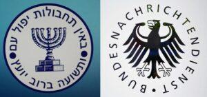 Logo des Mossad und des deutschen Bundesnachrichtendienstes