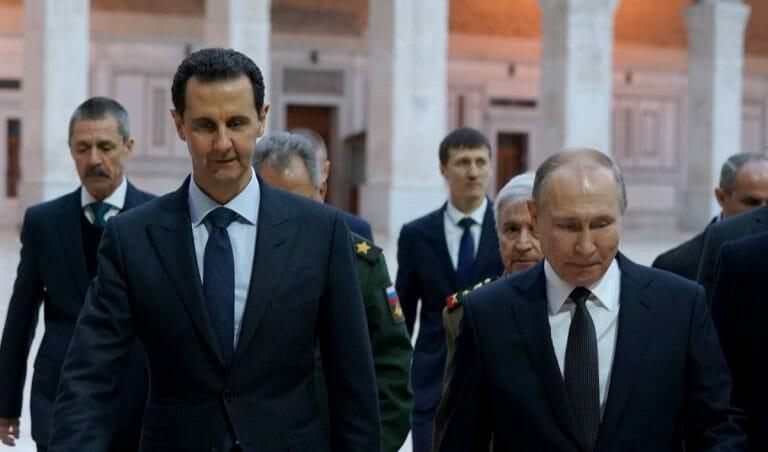 Syriens Präsident Bashar al-Assad und sein russischer Amtskollege Putin