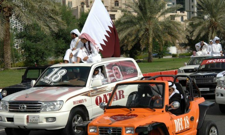 Kataris feiern den Unabhängigkeitstag ihres Landes