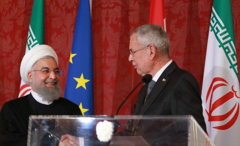 Irans Präsident Rohani und Österreichs Bundespräsident van der Bellen