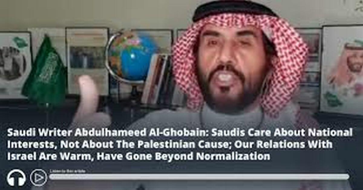 Der saudische Schriftsteller Abdulhameed Al-Ghobain will gute Beziehungen seines Landes zu Israel