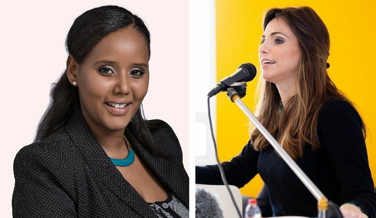 Israels neue Einwanderungministerin Pnina Tamano-Shata und die Ministerin für die Diaspora Omer Yankelevich