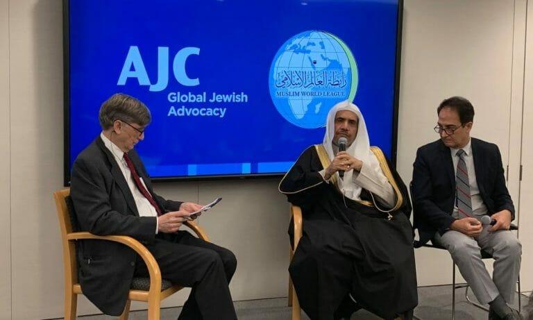 Mohammed Al-Issa auf dem virtuellen globalen Forum des American Jewish Committee