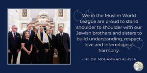 Aus der Rede des Generalsekretärs der Muslimischen Weltliga Mohammed al-Issa anlässlich der Verleihung eines Preises für den Kampf gegen Antisemitismus