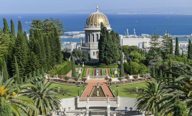 Der Baha'i-Tempel samt Gärten in Haifa