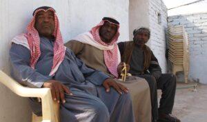 Schwarze Irakis in Basra