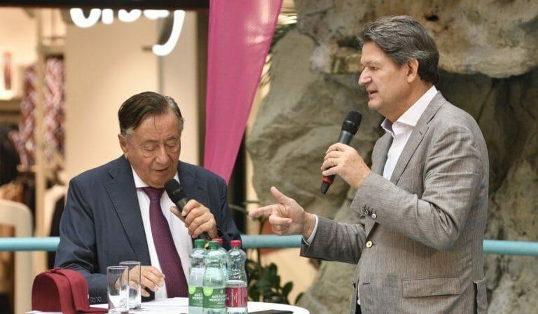 NEOS-Abgeordneter Helmut Brandstätter und der ehemalige Präsidentschaftskandidat Richard Lugner