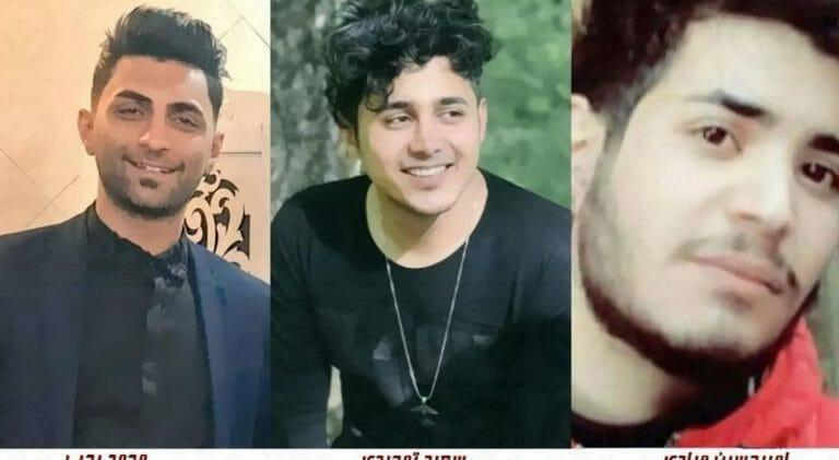 Die drei zum Tode veurteilten iranischen Demonstranten