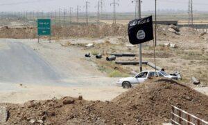 Flagge des Islamischen Staates in Irakisch-Kurdistan
