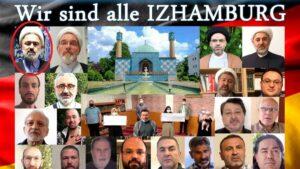 Der Berliner schiitische Scheich Sabahattin Türkyilmaz (l. o.) im Werbevideo des Islamischen Zentrums Hamburg