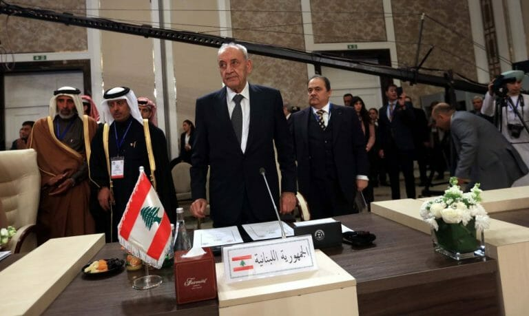 Der Parlamentssprecher des Libanon Nabih Berri
