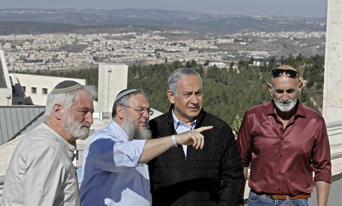 Netanjahum im Siedlungsblock von Gush Etzion, auf den die israelische Souveränität ausgeweitet werden könnte
