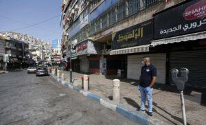 Ramallah nach der Verhängung des neuerlichen Corona-Lockdowns