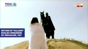 Saladin soll in dem Video das Land Israel für die Palästinenser zurückerobern