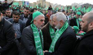 Die beiden Hamas-Führer Yahya Sinwar und Ismail Haniyeh