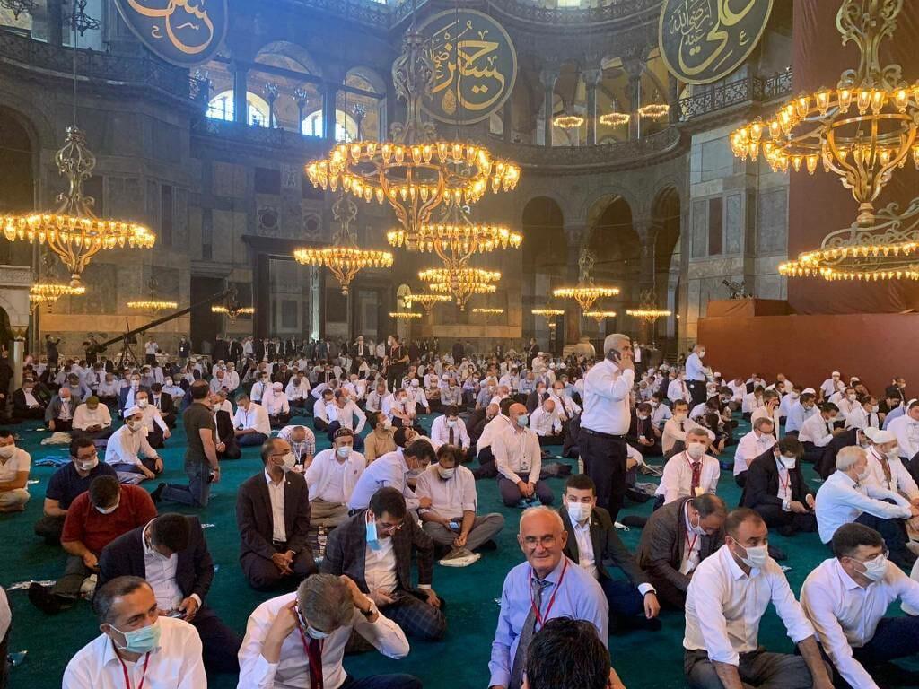 Erdogan hat sich einen Traum erfüllt: Die Hagia Sophia ist wieder eine Moschee. (imago images/Depo Photos)