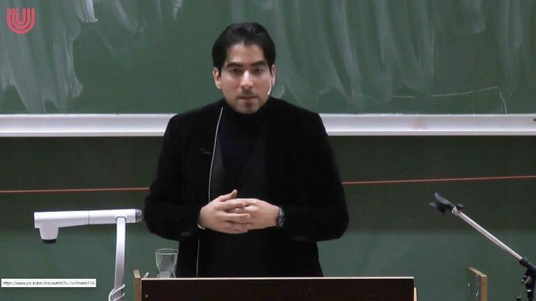 Der Islam-Theologe Mouhanad Khorchide (Quelle: Universität Bremen/Youtube)