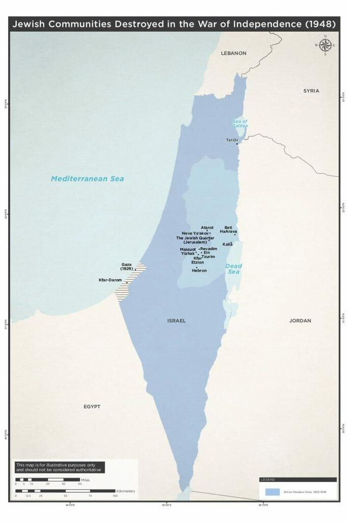 Im Unabhängigkeitskrieg verloren gegangene jüdische Gemeinden