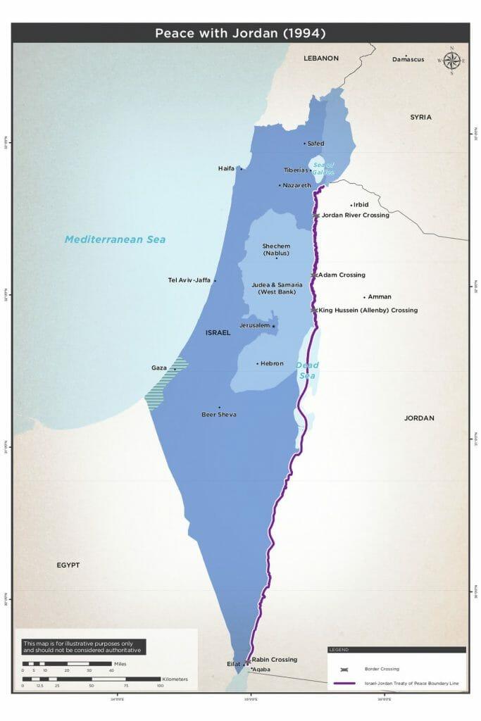 Friedensschluss mit Jordanien 1994