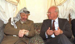 Auch Yitzhak Rabin (re,) knüpfte den Friedensprozess an Bedingungen