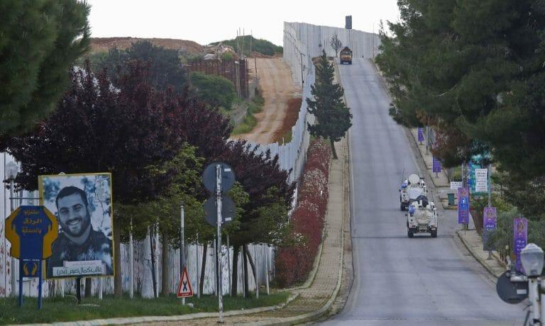 Grenze zwischen Israel und dem Libanon