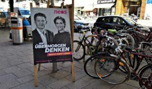 Außenpolitischer Sprecher der NEOS Helmut Brandstätter und Partei-Chefin Beate Meinl Reisinger