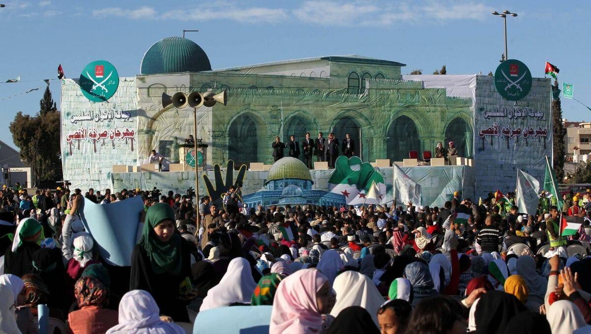 Demonstration der jordanischen Muslimbruderschaft gegen den Friedensvertrag mit Israel