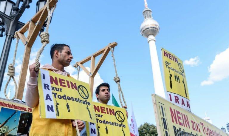 Demonstration gegen die Todesstrafe im Iran