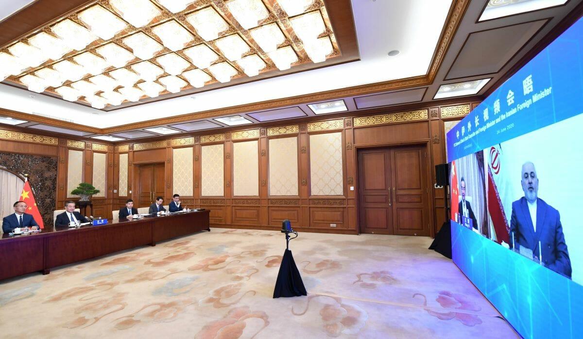 Videokonferenz zwischen Chinas Außenminister Wang Yi und seinem iranischen Amtskollegen Zarif