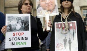 Demonstration gegen die Hinrichtungen im Iran