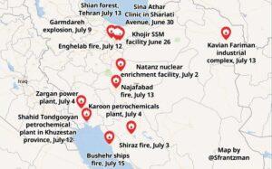 Der Iran wird von einer Reihe von Explosionen heimgesucht